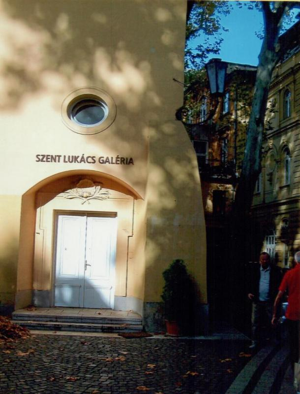 Entrance to St. Lukács Thermal Baths and Swimming Pools.