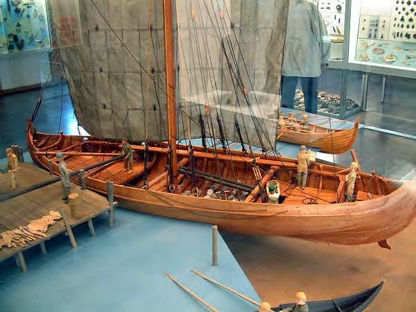 The knarr is a type of Norse merchant ship the Vikings built for long Atlantic voyages.