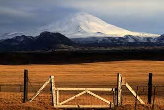 View of Mount Hekla covered in snow. From Hekla and gate, Wikimedia Commons