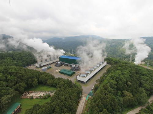 Mahanagdong geothermal power plant